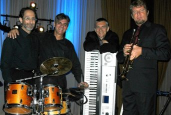 Jazz Survivors from left: Bob LaMendola, Eloy Oliveros, Les Blachut, Zoltan Grof